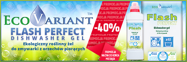Ekologiczny żel do zmywarki EcoVariant Flash Perfect -40%